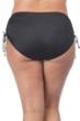 24th & Ocean Plus Size Solid Black Adjustable Brief Swim Bottom