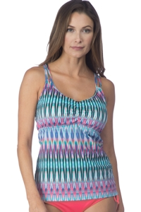 24th & Ocean I-Kat Believe It Racerback Tankini Top