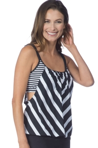 24th & Ocean Every Which Way Blouson Tankini Top