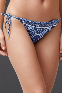 Reversible Tommy Bahama Indigo Cowrie Diamonds Side String Bikini Bottom