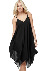 Tommy Bahama Cotton Modal Black Scarf Beach Dress