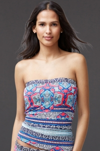 Tommy Bahama Riviera Tiles Underwire Bandeau Tankini Top