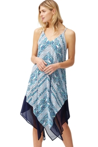 Tommy Bahama Caledon Sea Floral Isles Scarf Beach Dress