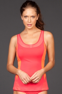 Coco Reef Coral Barbados DD-Cup Pure Racer Back Tankini Top