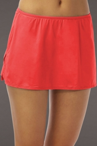 Coco Reef Coral Side Slit Swim Skirt