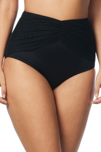 Coco Reef Solid Black Diva High Waisted Bikini Bottom