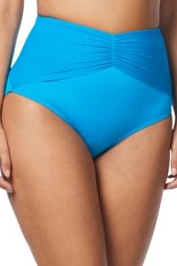 Coco Reef Solid Blue Diva High Waisted Bikini Bottom