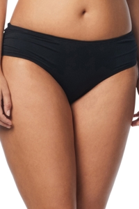 Coco Reef Solid Black Side Shirred Bikini Bottom