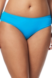 Coco Reef Solid Blue Side Shirred Bikini Bottom