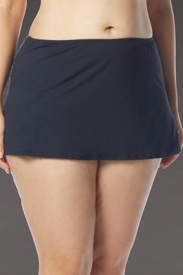 Coco Reef Plus Size Solid Black Skirted Tankini Bottom