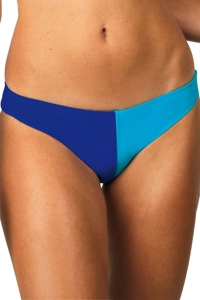 Raisins Blue Santa Cruz Color Block Low Rider Bikini Bottom