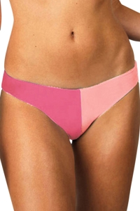 Raisins Pink Santa Cruz Color Block Low Rider Bikini Bottom