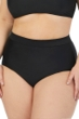 Raisins Curve Plus Size Solid Black Tie Back High Waist Bikini Bottom