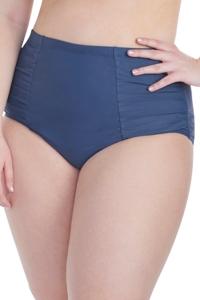 Raisins Curve Aloha Waters Plus Size Shirred High Waisted Bikini Bottom