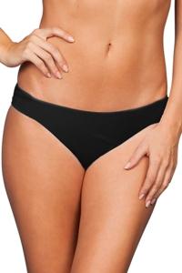 Zali Solid Black Hipster Bikini Bottom