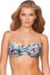 Zali Eden Center Ruched Bandeau Bikini Top