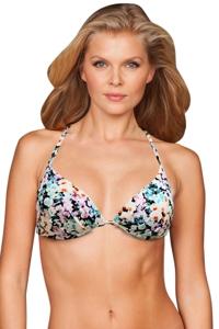 Zali Eden Underwire Halter Tie Back Bikini Top