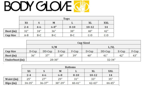 SWIMSTYLE Fit Guide | Size Charts by Brand
