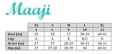 Maaji Size Chart