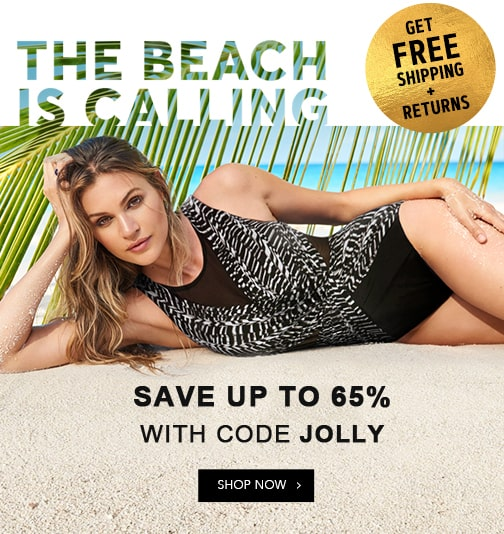 Save up to 75% off women's swimwear