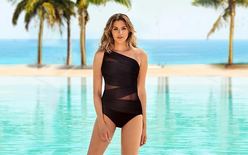 Stay Classy in a Black Swimsuit