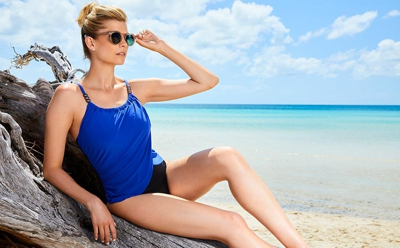 Look Good in Every Photo with a Blue Swimsuit