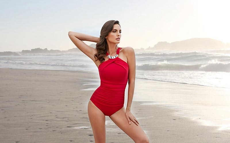 Red Swimsuits Command Attention